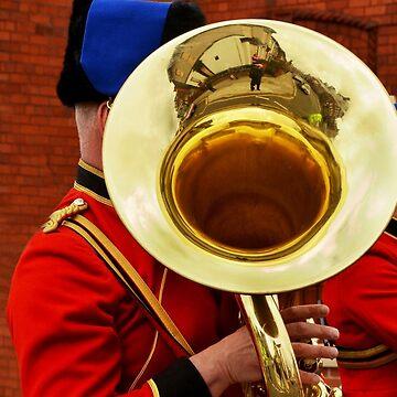 Uniformed military bandsman by Retiree
