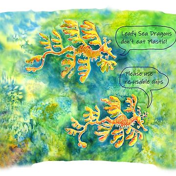 Leafy Sea Dragons don't eat Plastic! by MiMiDesigns