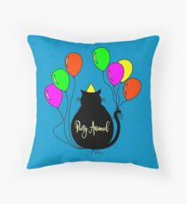Party Animal Throw Pillow