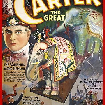 Carter The Great Restored Vintage Magician Poster by vintagetreasure
