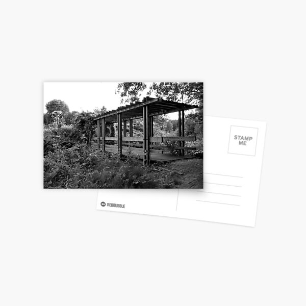 Wooden bridge to the rose garden Postcard