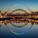 Gateshead Millennium Bridge at Night by Great North Views