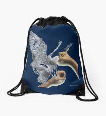 bird pretty lover - birds graphic art Drawstring Bag