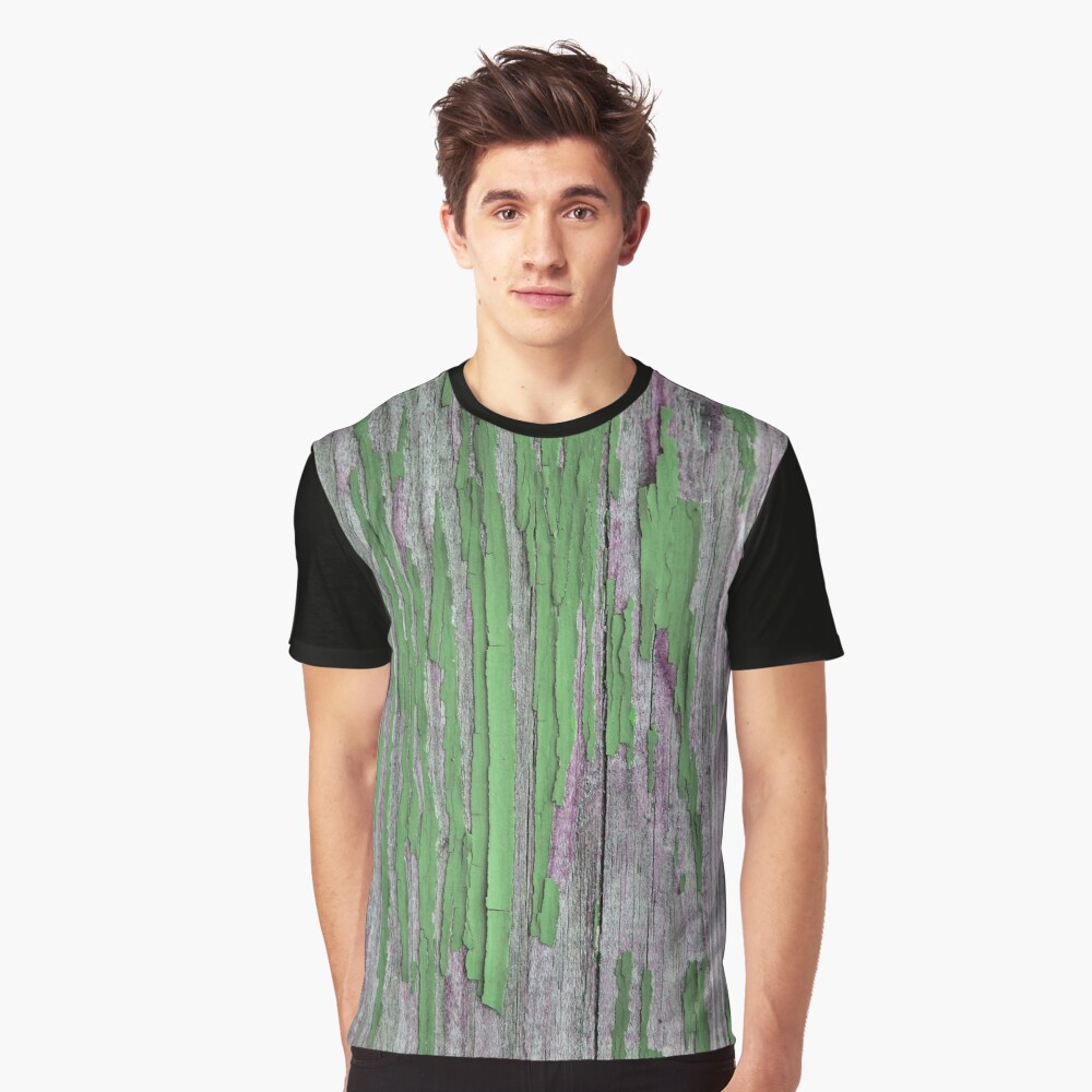 Rustic peeling paint in green Graphic T-Shirt Front