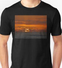 Mercurial seas at sunset Unisex T-Shirt
