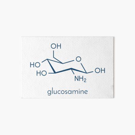 Glucosamine food supplement molecule. Skeletal formula. Art Board Print