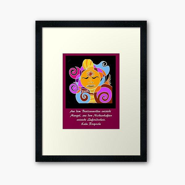 Oracle card Buddha Framed Art Print