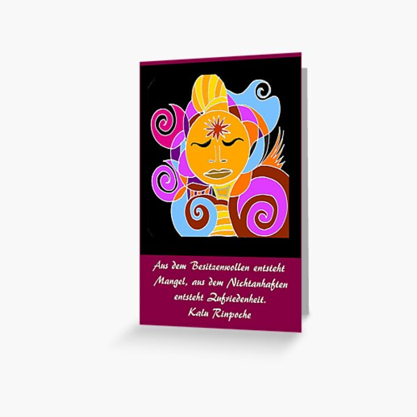 Oracle card Buddha Greeting Card