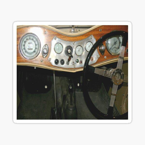 """1948 MG """"TC"""" Sports Dashboard  Sticker"""