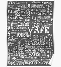 Vape Design Wordcloud Poster White Poster