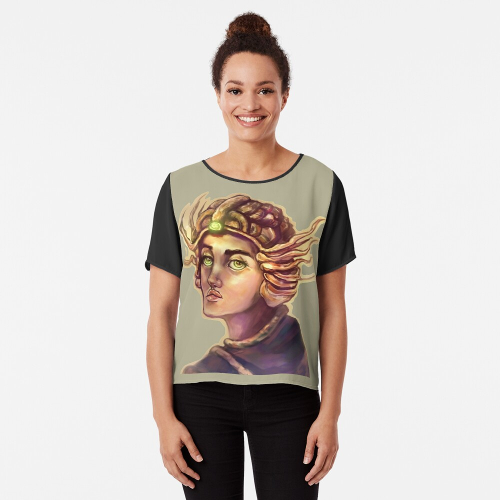 Princess Turtle Women's Chiffon Top Front