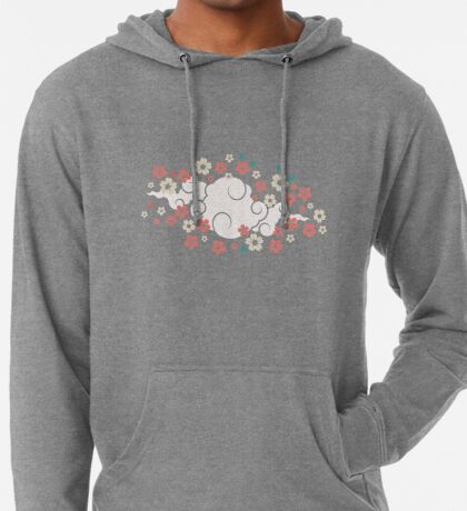Cherry Blossoms in Peach Lightweight Hoodie