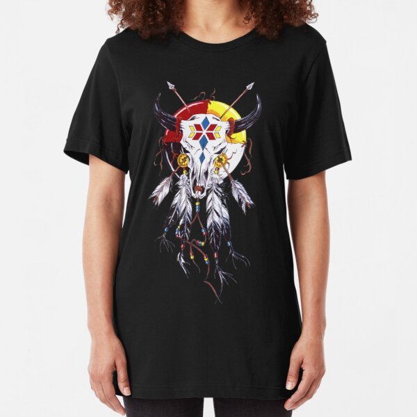 Skull Chief Indian Undead Native American cool urban t shirt