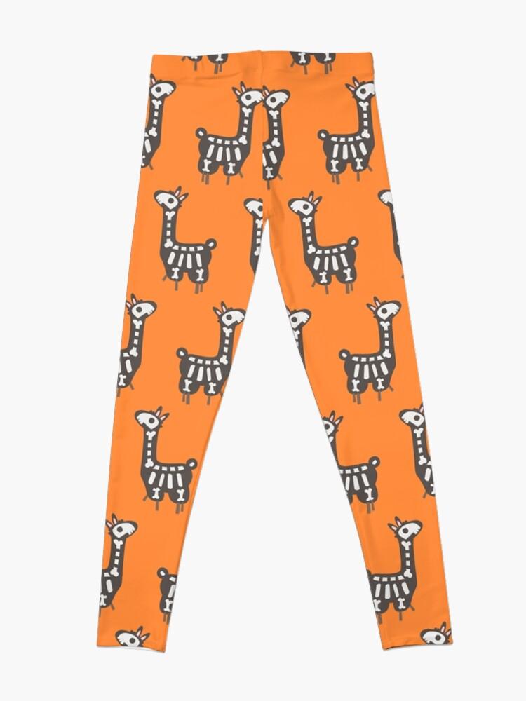 Alternate view of Halloween llama Leggings