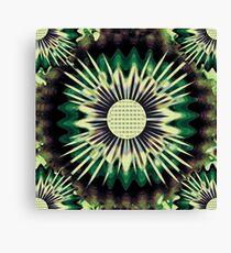 Green Abstract art Canvas Print