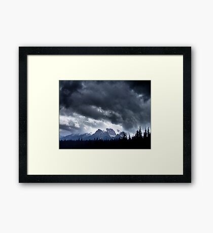 Storm,Kootenay Crossing Framed Print