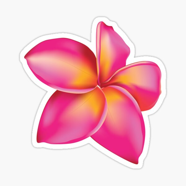 Plumeria flower 2 Sticker