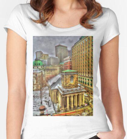 King's Chapel, Boston MA Women's Fitted Scoop T-Shirt