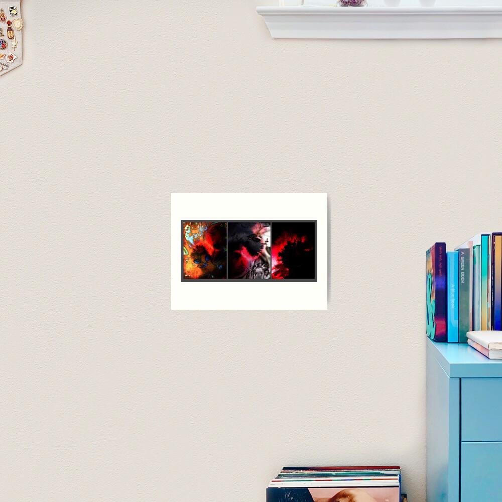 Y E S in Triptych Art Print