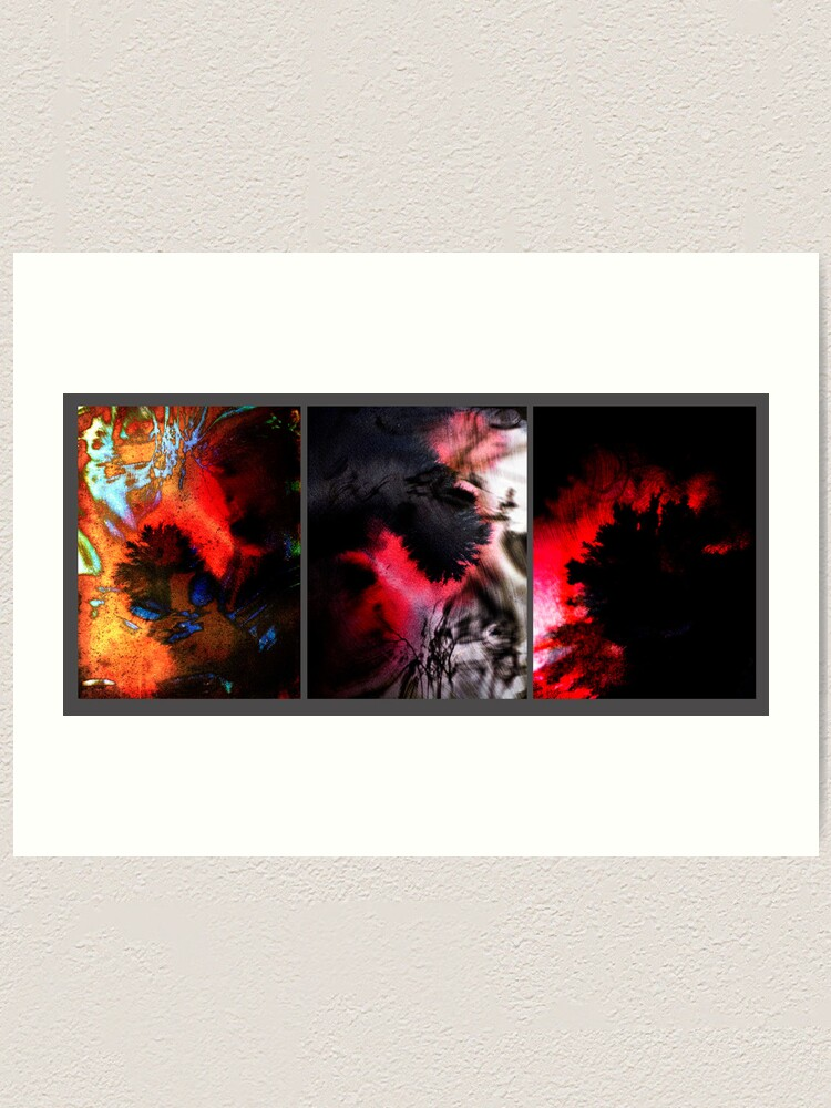 Alternate view of Y E S in Triptych Art Print
