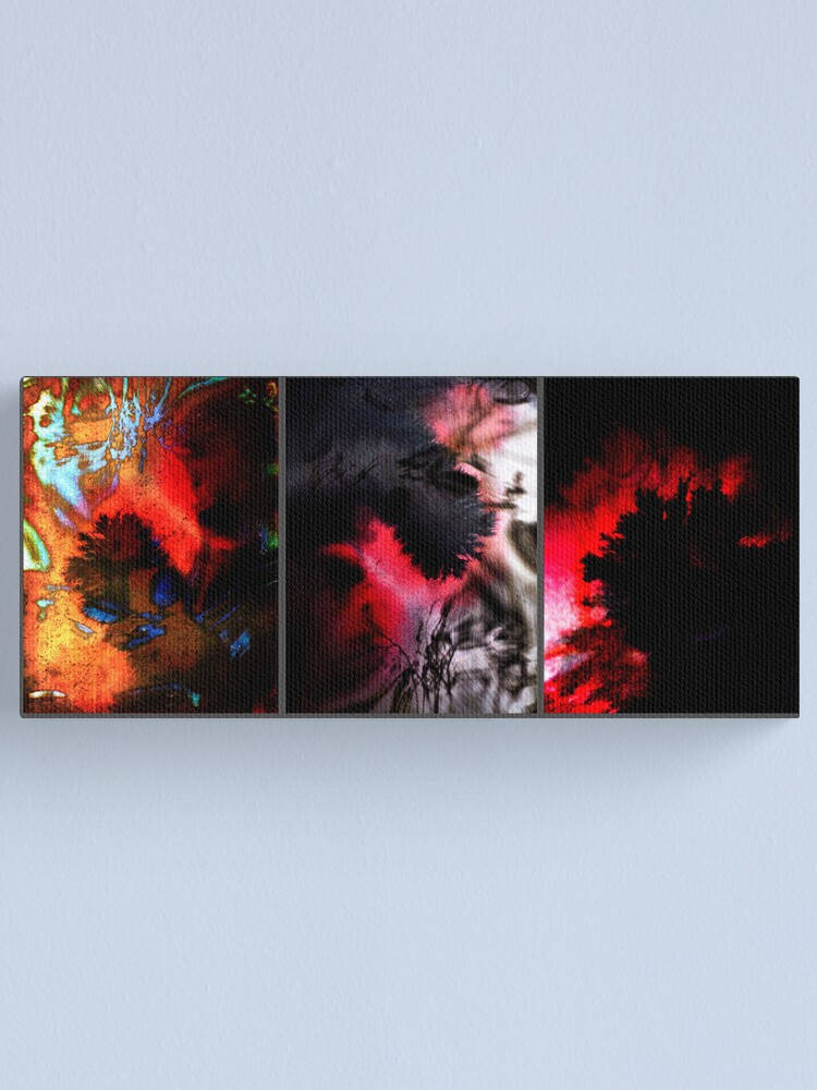 Alternate view of Y E S in Triptych Canvas Print