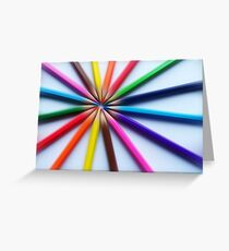 Colourful zoom Greeting Card