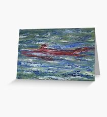 Red Shark Number Two Greeting Card