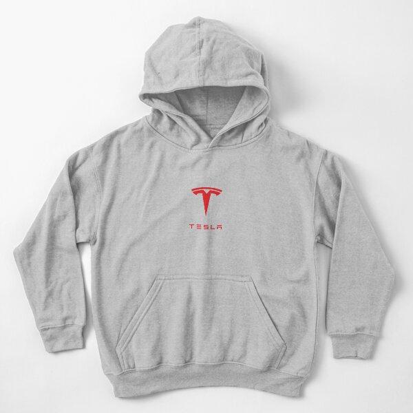 Tesla Motors Logo Apparel  Kids Pullover Hoodie
