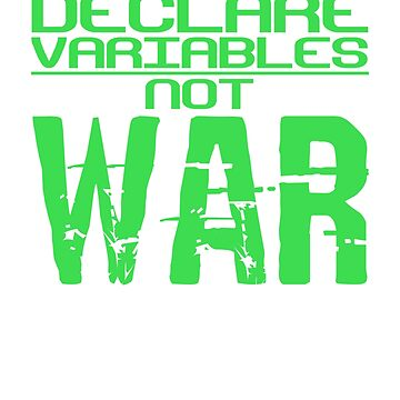 Declare Variables Not War by DaveM7054