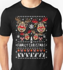 211 Hirsch Rudolph Rudi FAMILY Christmas 2 children Christmas Unisex T-Shirt