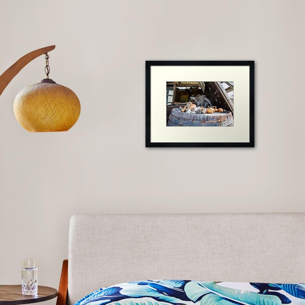 Onion and Garlic Still Life Framed Art Print