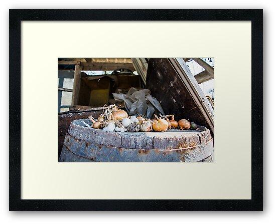 Onion and Garlic Still Life by Natalia Bazilenco