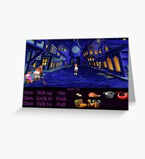 Melee Island streets (Monkey Island 1) Greeting Card