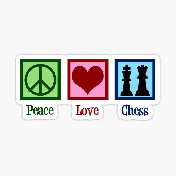 Peace Love Chess Sticker