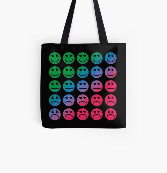 Emotion Emojis Mood Chart All Over Print Tote Bag