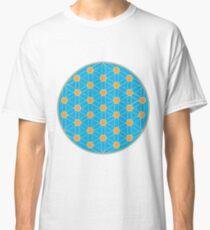 Fleur de vie bleu été T-shirt classique
