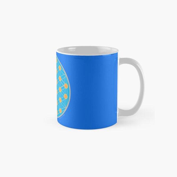 Fleur de vie bleu été Mug classique