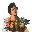 «Hombre con fruta» de LaurenTheLyon