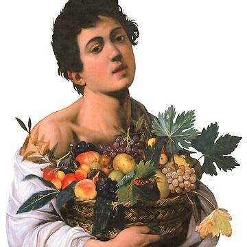 Hombre con fruta de LaurenTheLyon
