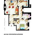 Floorplan of JESSICA JONES apartment / office by Iñaki Aliste Lizarralde