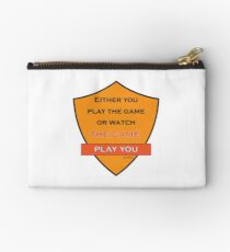 Either You Play The Game Or Watch The Game Play You Lyric Shirt -Cool J Cole Lyric Shirt - Either You Play The Game Or Watch The Game Play You Lyric tshirt  Studio Pouch