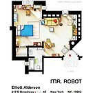 Floorplan of the apartment from MR ROBOT by Iñaki Aliste Lizarralde