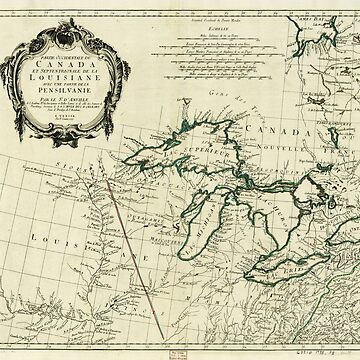 Map of the Great Lakes Region, North America (1784) by allhistory