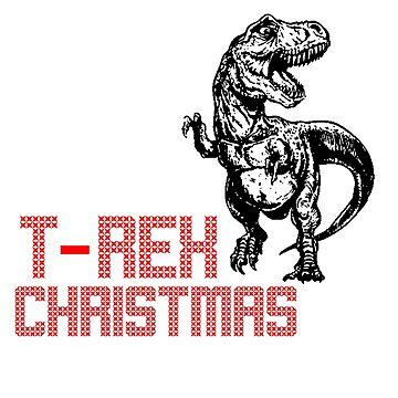 T rex chistmas gift tee shirt 2018 2019 by Bolerovo