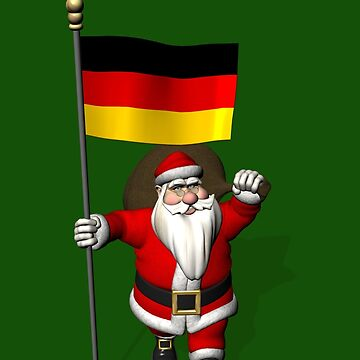 Santa Claus With Flag Of Germany by Mythos57