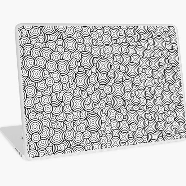 Chaotic Circles - Geometric Pattern (White) Laptop Skin