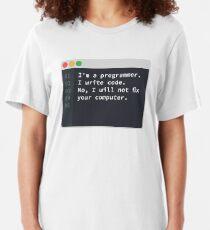 Je suis un programmeur T-shirt ajusté
