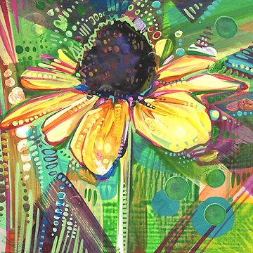 Black-eyed susan painting - 2018 by gwennpaints