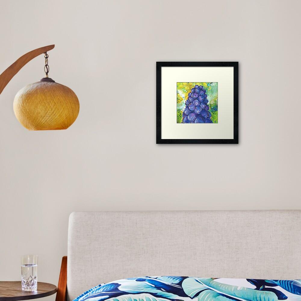 Grape Hyacinth Painting - 2018 Framed Art Print