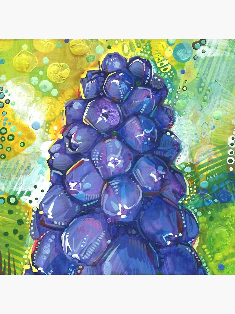 Grape Hyacinth Painting - 2018 by gwennpaints